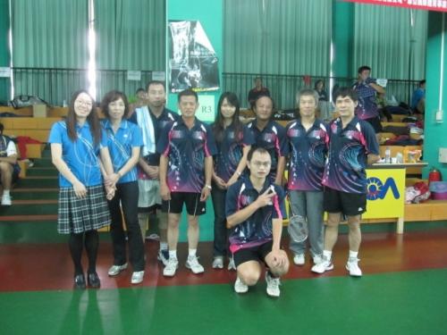 坑子社區承辦99年村社區羽球友誼賽