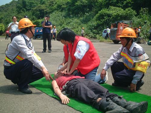 98年度坑子社區防救災演練暨示範觀摩